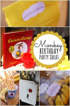 Monkey Themed Birthday Party for Your Little Curious George - Spaceships and Laser Beams