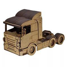 Caminhão Scania. Quebra Cabeça 3d. Miniatura Em Mdf - R$ 240,00