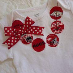 University of Arkansas Razorbacks Necklace Shirt or by ThisPretty, $18.00