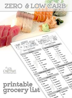 This printable Keto grocery list is a combination of the most popular Keto Diet foods in Zero Carb and Low Carb categories – OMG – WTF Keto Diet Grocery List, Low Carb Food List, Ketogenic Diet Food List, Keto Foods, Ketogenic Recipes, Low Carb Recipes, Diet Recipes, Keto Snacks, Lunch Recipes