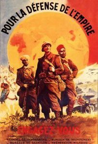 """""""For the defense of the Empire!"""" A WWI poster, which glorifies the French colonial army"""