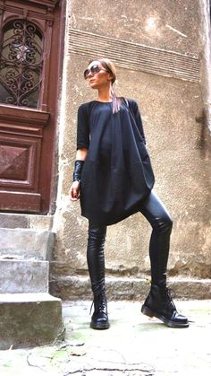 New COLLECTION AW 14/15 Oversize Black Loose Casual Top by Aakasha