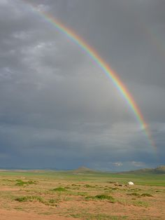 Rainbow over Mongolia