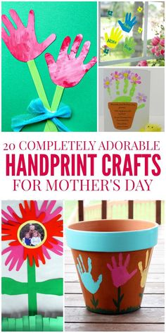 These handprint crafts are the cutest Mother's Day Crafts around! We've found 20 adorable options to make with the kiddos.