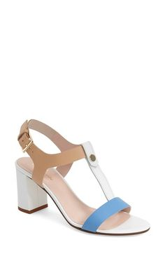 kate spade new york 'addie' block heel t-strap sandal (Women) available at #Nordstrom