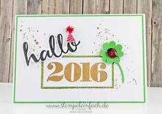 stempel einfach: Hallo 2016!