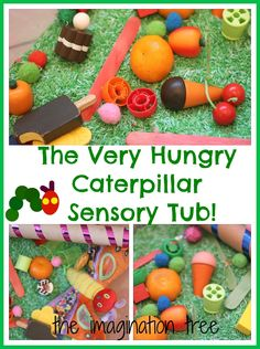 The Imagination Tree: The Very Hungry Caterpillar Sensory Storytelling Tub could be a fun activity & is especially great for kids on the autism spectrum #WorldEricCarle #HungryCaterpillar