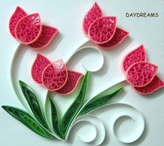 quilling patterns | DAYDREAMS: Quilled flowers by DeeDeeBean