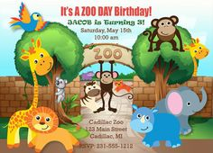 Zoo Animal Birthday Party Invitation Template http://www ...