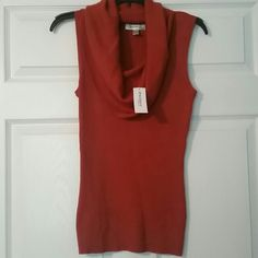 Dressbarn rust tank Perfect for fall. New with tags. Dress Barn Tops Tank Tops