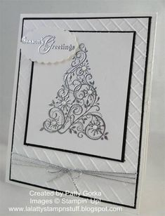 Silver Embossed Tree by LaLatty - Cards and Paper Crafts at Splitcoaststampers