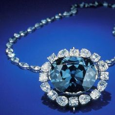 This gorgeous jewel is the Hope Blue diamond (also known as Le Bleu de  France), part of the French crown jewels.