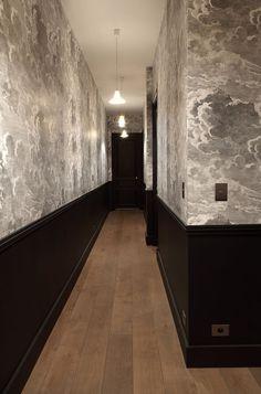 "Image Search Result For ""narrow hallway wallpaper"" Hotels Design, Cole And Son Wallpaper, Corridor Design, Interior Decorating, Home, Interior, Bedroom Design, Hallway Designs, Hallway Wallpaper"