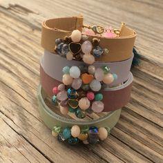 new pastel leather bracelets