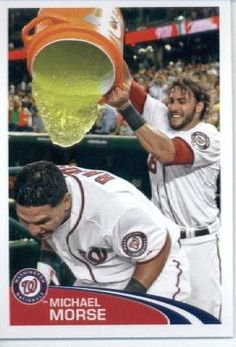 2012 Topps Baseball MLB Sticker #305 Michael Morse Washington Nationals by Topps Stickers. $2.95. Sticker is in MINT condition and shipped in a protective topload holder. Look for thousands of other great sportscards of your favorite player or team. Single 2012 Topps MLB Sticker. MLB Baseball Collectible Sticker From Topps