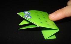 Ranita saltarina en origami