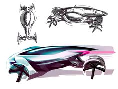 Opel RAK e Concept Design Sketch
