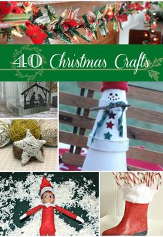 40 Christmas Crafts (scheduled via http://www.tailwindapp.com?utm_source=pinterest&utm_medium=twpin&utm_content=post260329&utm_campaign=scheduler_attribution)