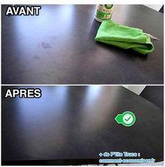 Il existe un truc maison pour détacher un meuble en Formica sans l'abîmer. L'astuce est d'utiliser de l'alcool ménager et de l'eau. Découvrez l'astuce ici : http://www.comment-economiser.fr/astuce-pour-nettoyer-un-meuble-en-formica-sans-abimer.html?utm_content=bufferafe3e&utm_medium=social&utm_source=pinterest.com&utm_campaign=buffer