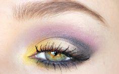 Yellow and purple smokey eye. Created with the Revlon Rio Rush Exotic palette.