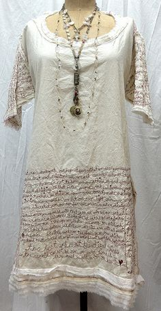 red thread poetry dress- this is wonderful, so much of hard work in making it ! - Rare and truly amazing!  I would use the words of Jesus though!