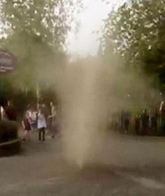 Mini tornado filmed in Worcester car park, UK -- Sott.net
