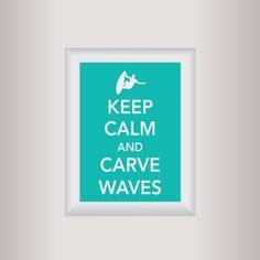 Surfing Decor Art / Keep Calm Art Print / Living by affinityforyou, $10.00