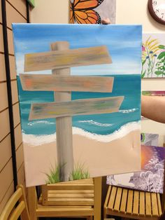 Beach signs painting - can be winter signs too