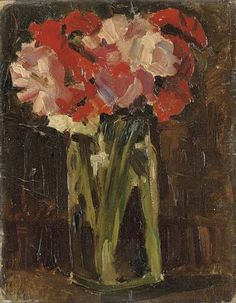 """Flowers in a Glass Jar"" by Christopher Wood"