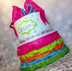 Colorful Ruffle Cake