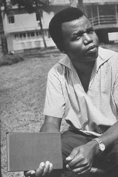 """Chinua Achebe,  considered by many to be the father of African literature.  He is best known for his first novel, Things Fall Apart (1958) - and for creating the Conrad controversy with his 1975 lecture, An Image of Africa: Racism in Conrad's """"Heart of Darkness,""""and its criticism of Joseph Conrad as """"a bloody racist"""". He is the winner of the Booker International Prize, 2007."""