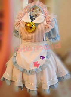 Sweet Soft Sister Big Bell Lolita Dress Maid Dress A Set Free shipping - Thumbnail 1