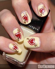 heart nails cute