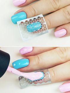 Cube nail art stencils incredible nail art vinyls by by Unail