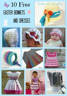 Easter bonnets and dresses are such a cute Easter and Spring accessory on smaller kids. The weather is getting warmer yet still cool enough and the kids just look adorable! They are great for picture taking as well. 1. Chameleon Hat – Spring Fling by Pattern Paradise I love this hat! It works up super …