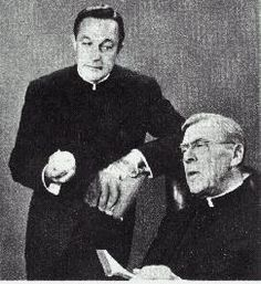 """In the early 1960's, the storyline of the film """"Going My Way"""" was converted into a television series starring Gene Kelly (previous entry) as Fr. Chuck O'Malley, and Leo G. Carroll as Fr. Fitzgibbon, running a New York parish. The show also featured a third Catholic actor, Dick York, playing a social worker. Facing stiff competition, the show only lasted for one 30 episode season, but is enjoying some current recognition now that it is available on DVD."""