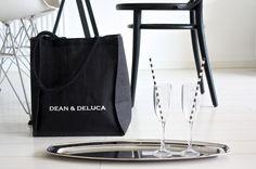 homevialaura | Dean & DeLuca shopping bag | Alessi serving platter | striped straws | Eames DSR | TON Chair 14