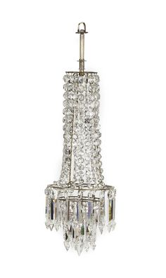 VICTORIAN CUT GLASS WATERFALL CHANDELIER LATE 19TH CENTURY