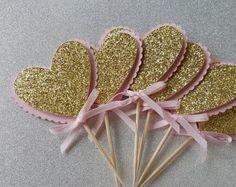 Banner de feliz cumpleaños de rosa y oro por SugaryDreamShoppe