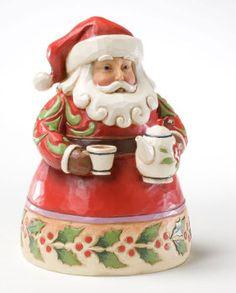 Christmas: Jim Shore 'Cup of Christmas Cheer' Mini Santa