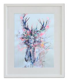"Saatchi Online Artist: Lykke Steenbach Josephsen; Digital 2013 Photography ""Deer Woman - hand colored art print"""