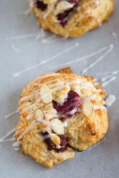 Cherry Almond Scones   tablefortwoblog.com