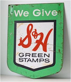 We collected S and H Green Stamps and Top Value Stamps. Then we traded them in for real items of value.