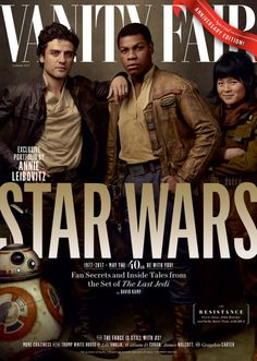 Leading up to the 40th anniversary of the @starwars franchise, Vanity Fair introduces the next chapter in its saga with four covers devoted to The Last Jedi.     Photographs by Annie Leibovitz.