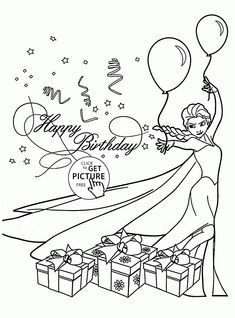 6th Birthday Card coloring page for kids, holiday coloring ...