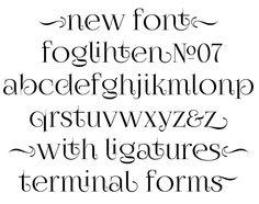 Foglihten№07 free typeface by Grzegorz Luk