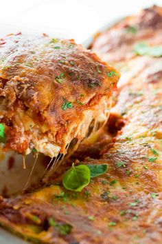 Meat lasagna is the perfect Italian comfort food! Tender pasta noodles layered with tomato sauce, ground beef, chopped pork sausage, creamy ricotta, and mozzarella cheese. Baked Lasagna, Lasagna Casserole, Meat Lasagna, Cheese Lasagna, Casserole Dishes, Ground Beef Lasagna Recipe, Meat Sauce, Tomato Sauce, Beef Recipes