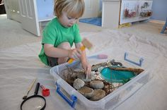 Make dino eggs with plastic dinosaurs inside that kids can crack open. Definitely doing this when I have kids.