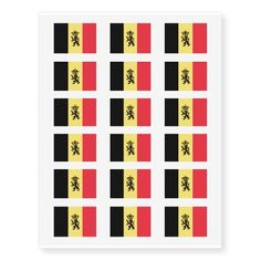 Belgian flag temporary tattoos