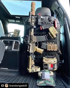 """""""With all the crazy things going on in this world today, you would be stupid not to be prepared."""" -DT repost using our heavy duty x RMP. Tactical Wall, Tactical Truck, Tactical Gear, Weapons Guns, Guns And Ammo, Weapon Storage, Gun Storage, Gun Vault, Battle Rifle"""